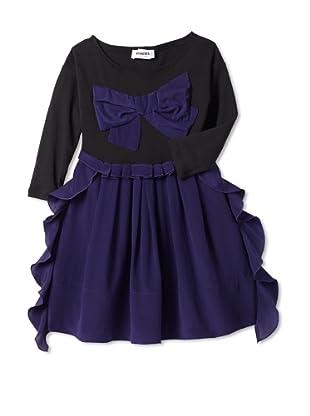 Sonia Rykiel Girl's Silk Jersey Dress with Big Bow (Purple)