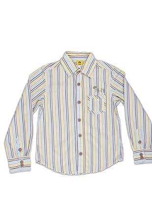Naf Naf Chevignon Camisa Bolsillos (gris / verde lima / blanco)