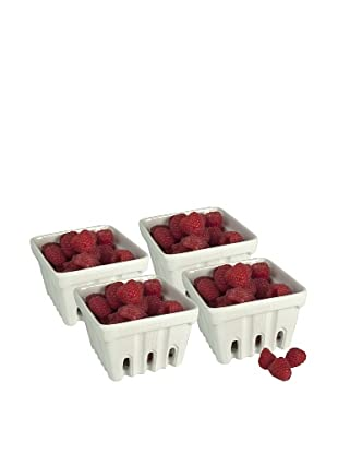 Artland Set of 4 Berry Baskets, White