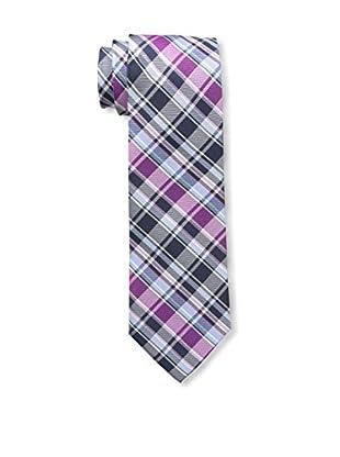 Bruno Piattelli Men's Plaid Tie, Fuschia
