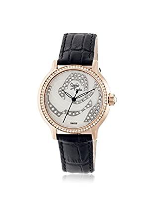 Sophie and Freda Women's SF2706 Monaco Black/White Leather Watch