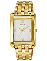 Sonata Analog White Dial Men's Watch - NF7953YM01J