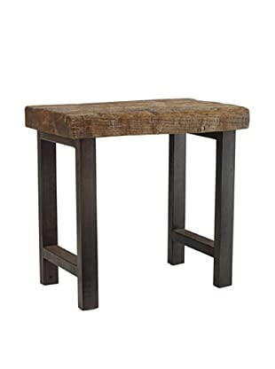 Classic Home Jaden Iron Leg End Table, Natural/Iron