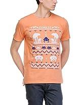 Yepme Men's Pink Graphic Cotton T-shirt -YPMTEES0204_M