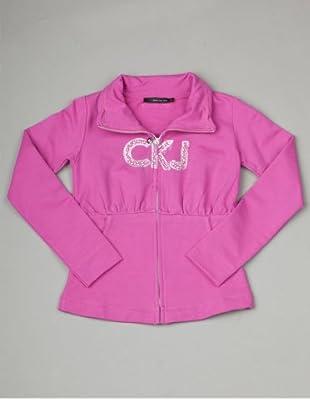 Calvin Klein Jeans Longsleeve Zip Jacke (Fuchsia)
