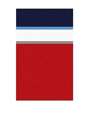 Manterol Casa Toalla Playa Nautic V Rojo / Marino / Blanco 160 x 100 cm (Rojo / Marino / Blanco)