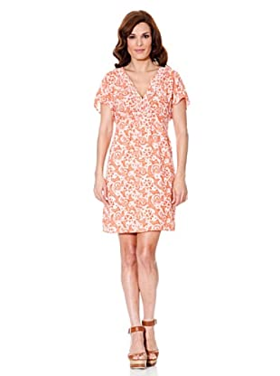 Cortefiel Kleid Paisley (Koralle)