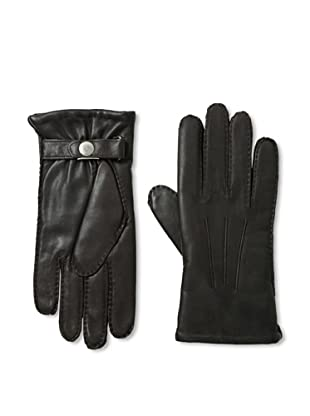 Portolano Men's Lined Snap Leather Gloves (Brown)