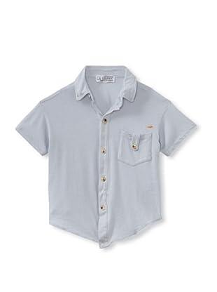 LA Lounge Boy's Knit Button-Up Shirt (Elephant Grey)