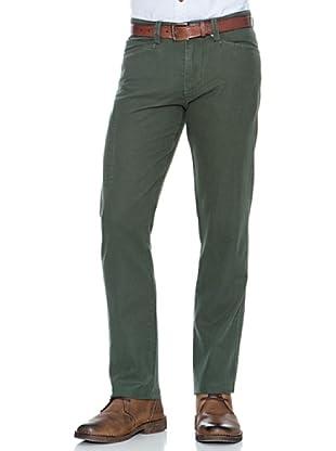 Dockers Pantalón Alpha Con Cremalleras (Verde Oscuro)
