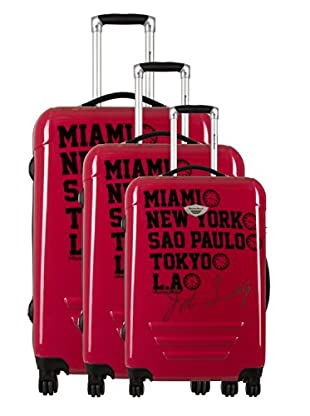 American Revival Set 3 Trolley Jet Lag (Rosso)
