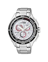Citizen Eco-Drive Analog White Dial Men's Watch - AT0956-50A