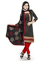 Livaaz Party Wear Chanderi cotton Salwar Suit dupatta/dress material