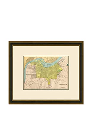 Antique Lithographic Map of Louisville, 1883-1903