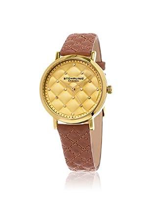 Stührling Women's 462.02 Audrey Tan/Gold Stainless Steel Watch