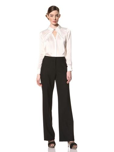 Magaschoni Women's Long Sleeve Shirt (Ivory)