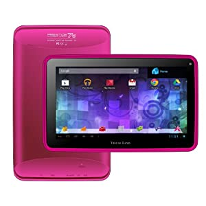 "Visual Land Prestige 7G - 7"" Single Core 8GB Android Tablet with Google Play (Magenta)"
