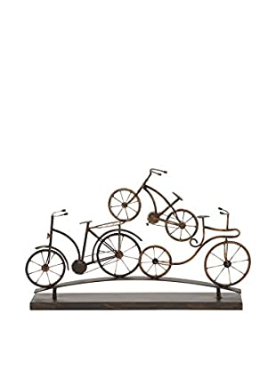 Deco 79 Bicycle Table Décor, Brown