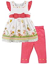 Infant Girls Co-ordinate Set Top With Tights, Multi Colour (0-3 Months)
