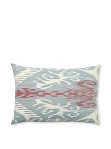 """D. Bryant Archie Uzbek Ikat Pillow, Denim, 15"""" x 23"""""""