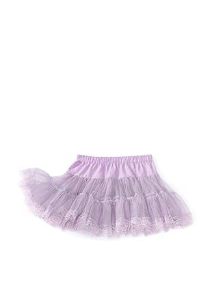 Monnalisa Girl's Ruffle Skirt (Grey/Lilac)
