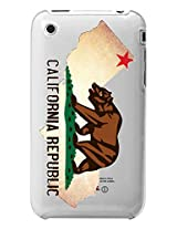 Cellet Clear Proguard Case for Apple iPhone 3G/3GS - Non-Retail Packaging - California Flag nn Its Map