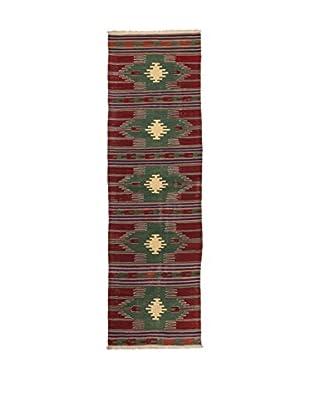 RugSense Alfombra Kilim Anatolia Rojo/Verde/Multicolor 291 x 77 cm