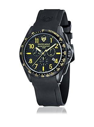 Swiss Eagle Uhr mit Schweizer Quarzuhrwerk Tactical schwarz 46 mm