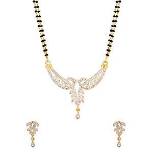 Voylla CZ Encrusted Mangalsutra Featuring Double Chain