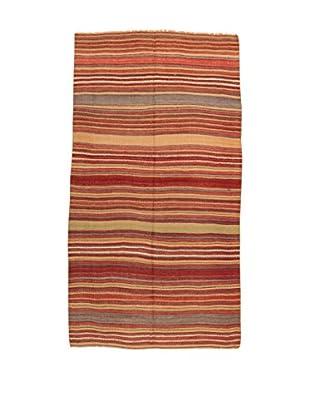 Design Community By Loomier Teppich Kilim Caucasico rot/mehrfarbig 134 x 254 cm