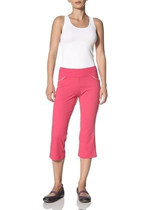 New Balance Yoga Women's Sequin Capri Pant (Bright Rose)