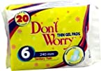 Dontworry Thin Gel Sanitary Pads - 6Pcs - (Mankind)
