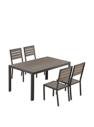 Ceets Welsley 4-Seat Outdoor Dining Set, Brown