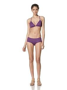 diNeila Women's Triangle Bikini Top & Bottoms (Petunia)