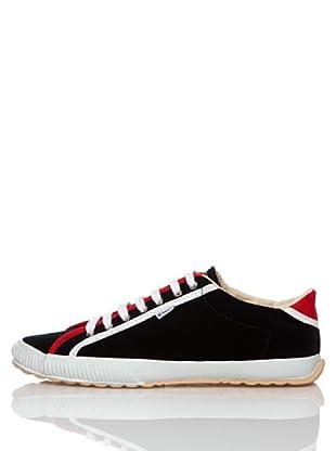 El Ganso Zapatos College Terciopelo Bindings (Negro)