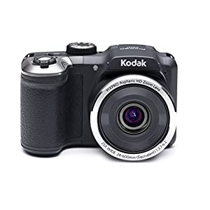 Kodak PixPro AZ251 Point and Shoot Camera (Black) with 25x Optical Zoom, 4GB Card and Camera Case