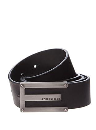 Springfield Cinturón Piel Hebilla Vestir (negro)