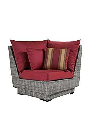 RST Brands Cannes Corner Chair, Red