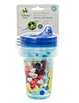 Disney Mickey Mouse 3 Piece Stackable and Reusable Cups, Blue, 10 Ounce