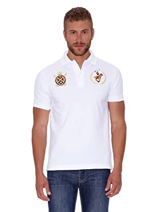 Polo Club Polo Custom Fit Escudo & Logo (Blanco)