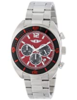 I by Invicta Watches, Men's Chronograph Red Dial Stainless Steel, Model 90232-003