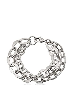 Riccova Links Satined & Textured Double-Strand Link Bracelet