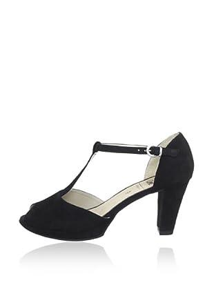 Caprice  Zapatos Peep Toe Gabriela (Negro)
