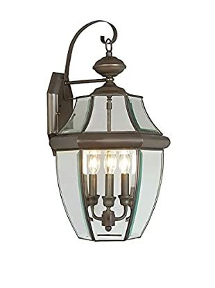 Crestwood Marigold 3-Light Wall Lantern, Bronze