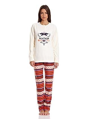 Gisela Pijama Camiseta Y Pantalón (Crudo)