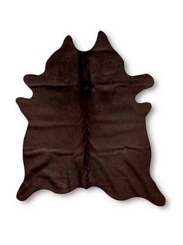 Natural Geneva Cowhide Rug (Chocolate)