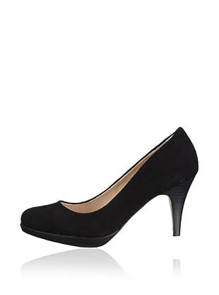 Buffalo London 109-3499 KID SUEDE 109018 - Zapatos de piel de tacón  mujer (Negro)
