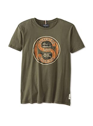 Denim & Leathers by Andrew Marc Men's Superior Gas Tee (Military)