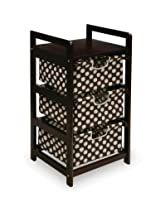 Badger Basket Three Drawer Hamper/Storage Unit, Espresso/Brown