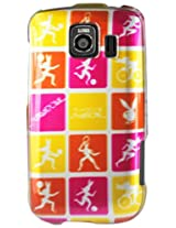 LG 2D Protector Cover for LG Optimus S LS670 PB36 - Retail Packaging - Yellow/Pink/Orange/White